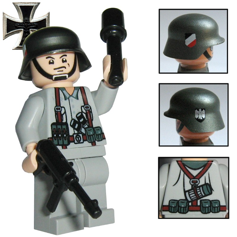 wehrmacht soldat herbert prime line custom figur aus lego custom teilen ebay. Black Bedroom Furniture Sets. Home Design Ideas